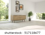 white room with shelf and green ... | Shutterstock . vector #517118677
