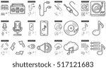 music vector line icon set... | Shutterstock .eps vector #517121683