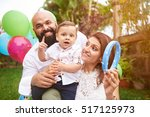 lifestyle of happy latino... | Shutterstock . vector #517125973