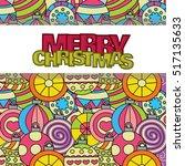 merry christmas background... | Shutterstock .eps vector #517135633