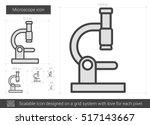 microscope vector line icon... | Shutterstock .eps vector #517143667