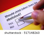 Small photo of Should child labor laws be abolished? Yes.