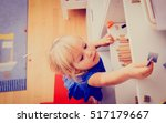 kids safety concept  little... | Shutterstock . vector #517179667