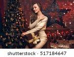 beautiful happy blonde  girl in ... | Shutterstock . vector #517184647