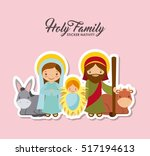 Holy Family Characters. Virgin...