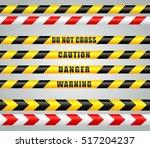 illustration of stripes tape... | Shutterstock .eps vector #517204237