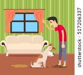 choleric temperament type boy... | Shutterstock .eps vector #517206337