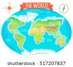 the world geographical map.... | Shutterstock .eps vector #517207837