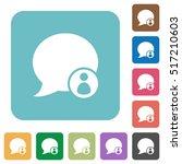 blog comment sender white flat...   Shutterstock .eps vector #517210603