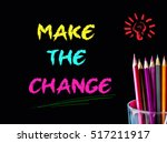 color pencil on black... | Shutterstock . vector #517211917