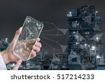 futuristic transparent smart... | Shutterstock . vector #517214233