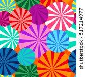 umbrellas world. seamless... | Shutterstock .eps vector #517214977