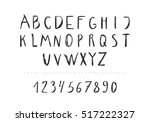 black hand drawn pencil font.... | Shutterstock .eps vector #517222327
