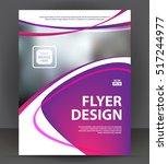 abstract flyer  brochure  cover ... | Shutterstock .eps vector #517244977