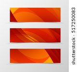 set of header banner dynamic... | Shutterstock .eps vector #517250083
