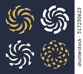 abstract radial spiral logotype.... | Shutterstock .eps vector #517250623