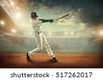 baseball players in action on... | Shutterstock . vector #517262017