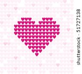 pattern from pink hearts... | Shutterstock .eps vector #51727138