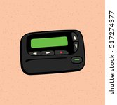 pager the old wireless... | Shutterstock .eps vector #517274377