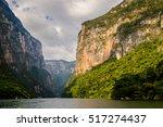 rocks of sumidero canyon... | Shutterstock . vector #517274437