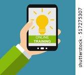 hand holding smartphone  online ... | Shutterstock . vector #517275307
