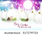 christmas. background with... | Shutterstock .eps vector #517279723