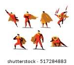 vector illustration set of... | Shutterstock .eps vector #517284883