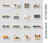 cargo transport  packaging ... | Shutterstock .eps vector #517301383