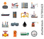 oil industry extraction... | Shutterstock .eps vector #517301623