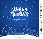 vector illustration  merry... | Shutterstock .eps vector #517302127