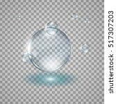water drops realistic... | Shutterstock .eps vector #517307203