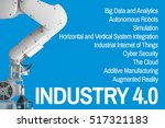 industry 4.0  cyber the future... | Shutterstock . vector #517321183
