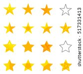 a set of stars  gold star  star ... | Shutterstock .eps vector #517331413