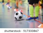 children training soccer futsal ... | Shutterstock . vector #517333867