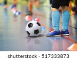 children training soccer ... | Shutterstock . vector #517333873
