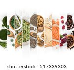top view of mixed colorful... | Shutterstock . vector #517339303