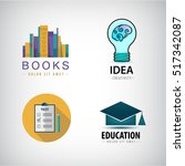 vector set of education logos ... | Shutterstock .eps vector #517342087