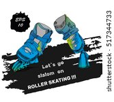 vector illustration of roller... | Shutterstock .eps vector #517344733