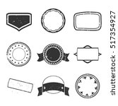 set of black stamps | Shutterstock .eps vector #517354927