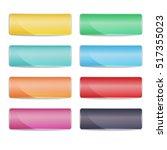 set of 8 rectangular web buttons | Shutterstock .eps vector #517355023