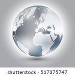 earth globe design.vector globe ... | Shutterstock .eps vector #517375747