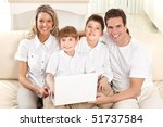 happy family. father  mother... | Shutterstock . vector #51737584