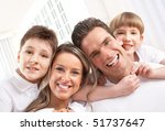 happy family. father  mother... | Shutterstock . vector #51737647