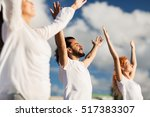 fitness  sport  and healthy... | Shutterstock . vector #517383307