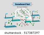 isometric map ski resort | Shutterstock .eps vector #517387297