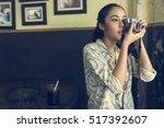 camera photographer inspiration ... | Shutterstock . vector #517392607