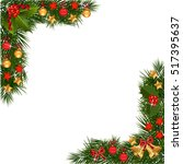 a traditional christmas garland ... | Shutterstock .eps vector #517395637