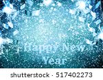 new year decoration closeup on... | Shutterstock . vector #517402273