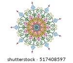 abstract ornament flower doodle style background