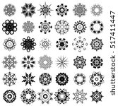 vector set of different tribal... | Shutterstock .eps vector #517411447